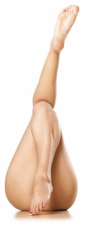 body contouring lady legs